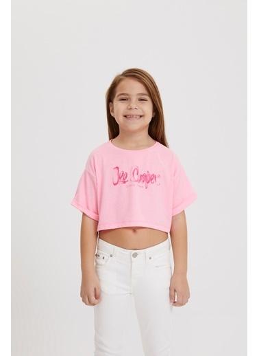 Lee Cooper Kız Çocuk Neon Pembe T-Shirt Pembe